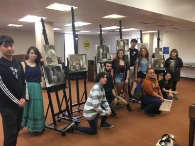 Group photo of ART 116: Beginning Painting Course