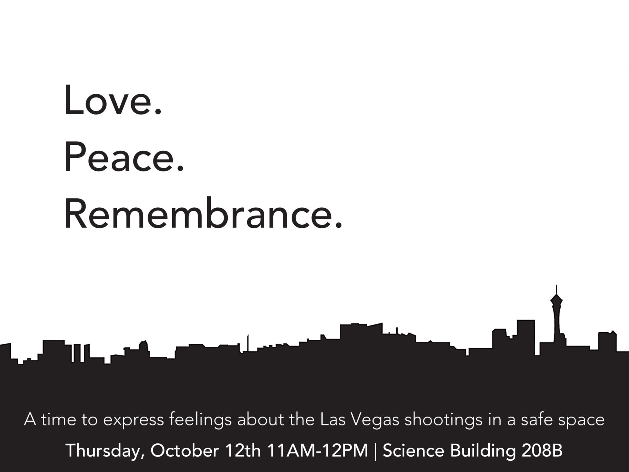 Love, peace, remembrance: Express your feelings about Las Vegas incident on Oct. 12