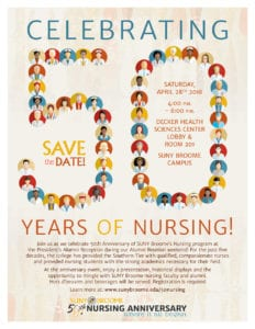 Join us as we celebrate 50th Anniversary of SUNY Broome's Nursing program at the President's Alumni Reception during our Alumni Reunion weekend!