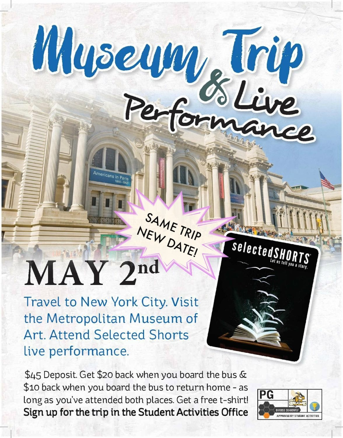 NYC Museum Trip & Live Performance on May 2