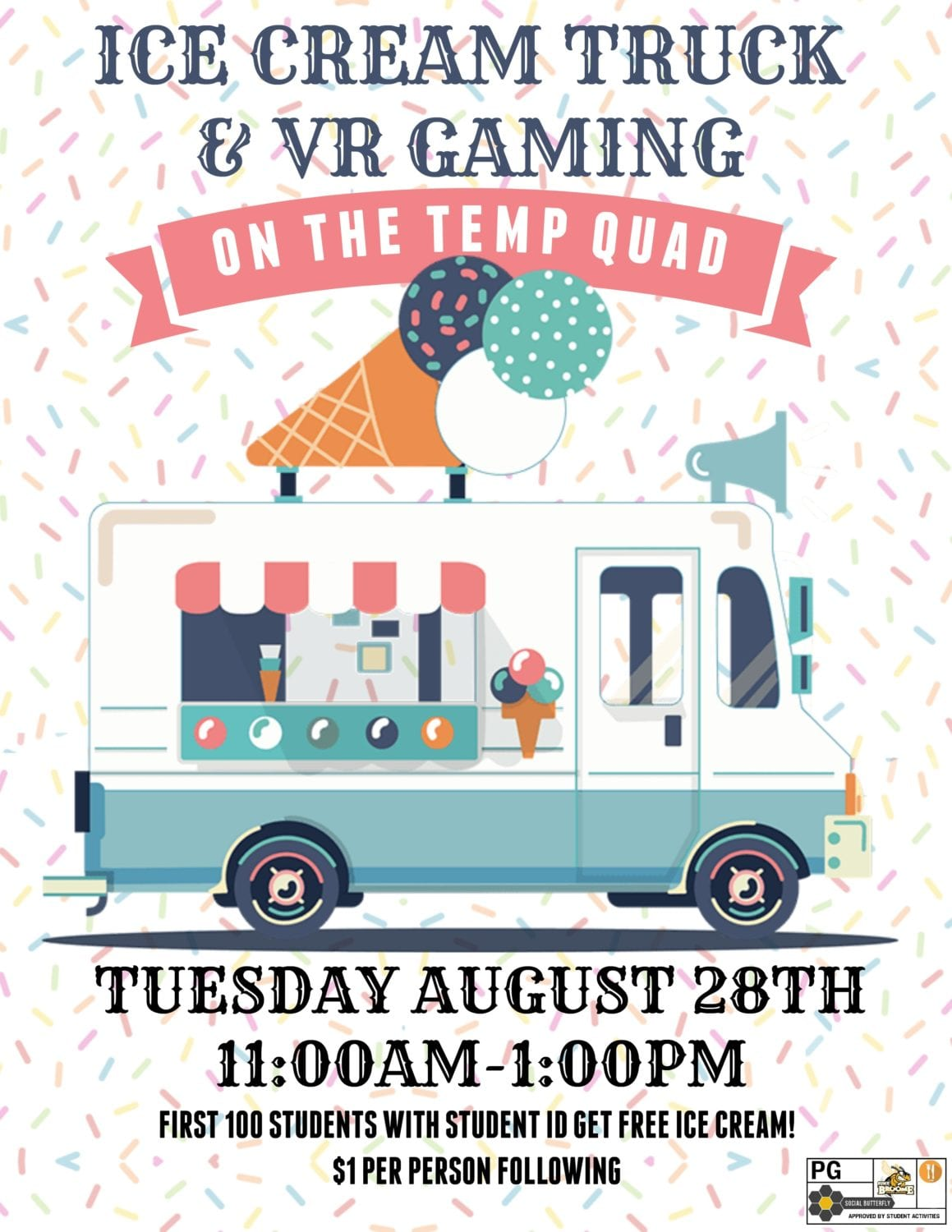 Virtual Reality Gaming with Ice Cream Truck on Aug. 28
