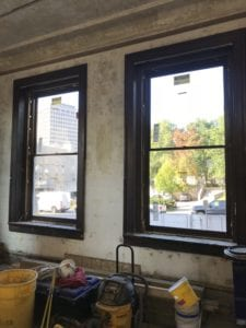 New windows at the Culinary & Events Center.