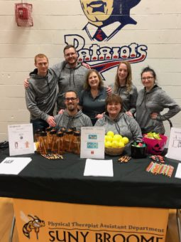 Senior SUNY Broome Physical Therapist Assistant students and faculty participated in the Healthy Habits Health Fair at Fall Fest on Thursday, Oct. 25, 2018.