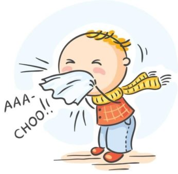 A person sneezing
