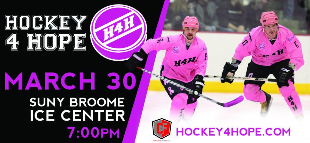 2019 Hockey 4 Hope game day flyer