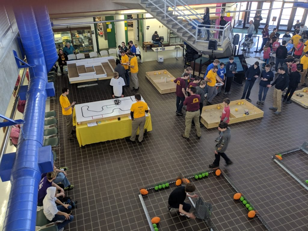 SUNY Broome hosted its first-ever Junior Robotics Day on March 30 in the Applied Technologies Atrium.