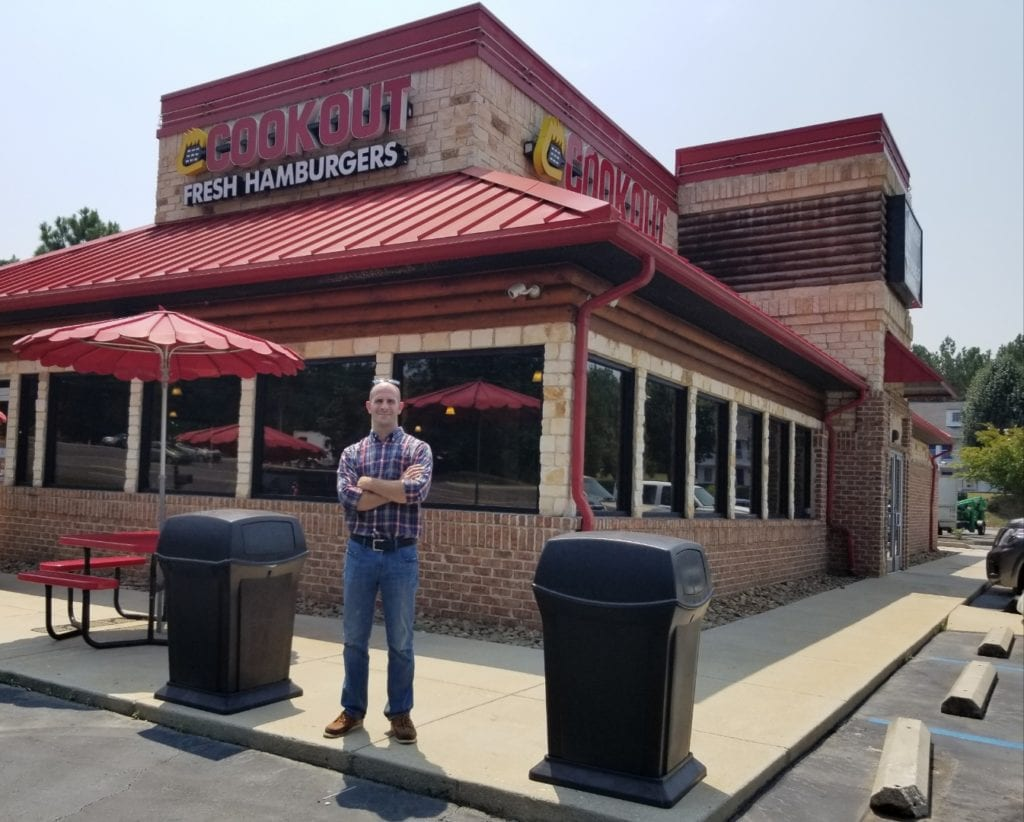 Mike Santacrose, SUNY Broome alumnus and director of operations for Cook Out Restaurants