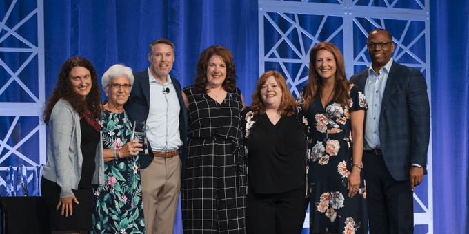 Our Starfish team joins Hobsons on the stage during the Florida awards ceremony