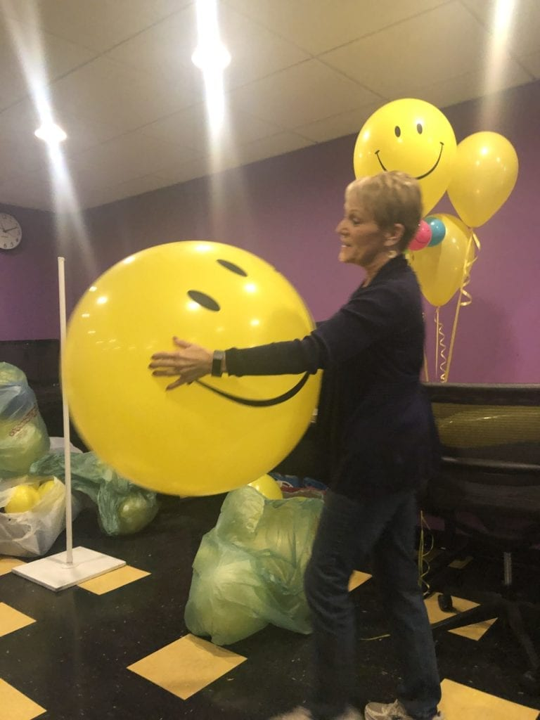 Local business A Balloon Affair recently paid a visit to students in SUNY Broome's EVE 215: Interior Design for Special Events class. Students learned about different types of balloons and their uses.