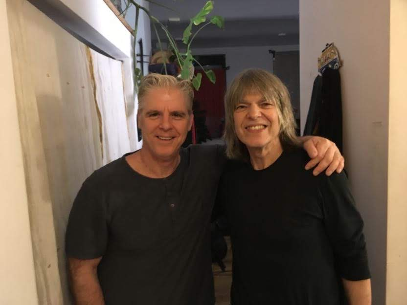 Laurence Elder (left) with Mike Stern in New York City/