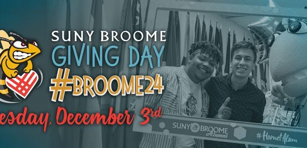 Make your gift, day or night! SUNY Broome's 24 Hours of Giving is Dec. 3