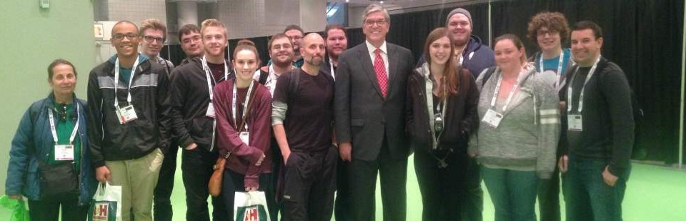 Communications Club meets NAB President at CCW Expo