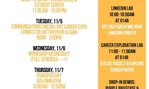 Mark your calendars:  Career Week 2019 schedule of events