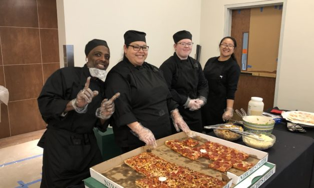 Attitude of gratitude: Hospitality students cater a luncheon for the workers building the CEC