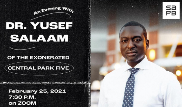 An Evening With Dr. Yusef Salaam of the Exonerated Central Park Five